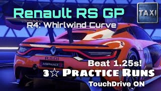 Asphalt 9 - Got a 3 Star Renault RS for GP Round 4 - Practice Runs - Whirlwind Curve - TouchDrive