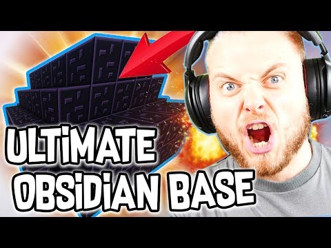 THE ULTIMATE OBSIDIAN BASE in BEDWARS WAsubh