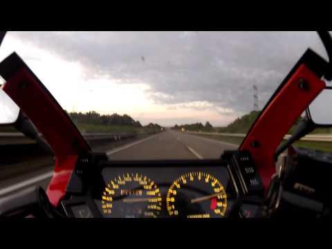 Kawasaki GPX 600 R (ZX 600C) - Autobahn - Topspeed ca. 220 kmh