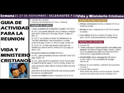 Semana 21 27 Nov 2016 Guía De Actividades Vida Y Ministerio Cristianoss)