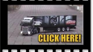 Tamiya Scania R 620 RC tractor truck & Carson FULDA semi-trailer