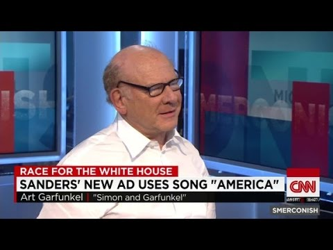 "Art Garfunkel on Sanders ad using ""America"""