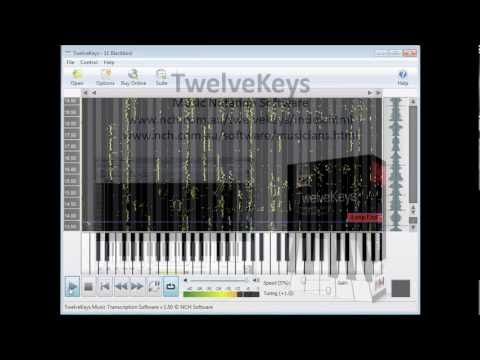 TwelveKeys Music Transcription Software | Video Tutorial