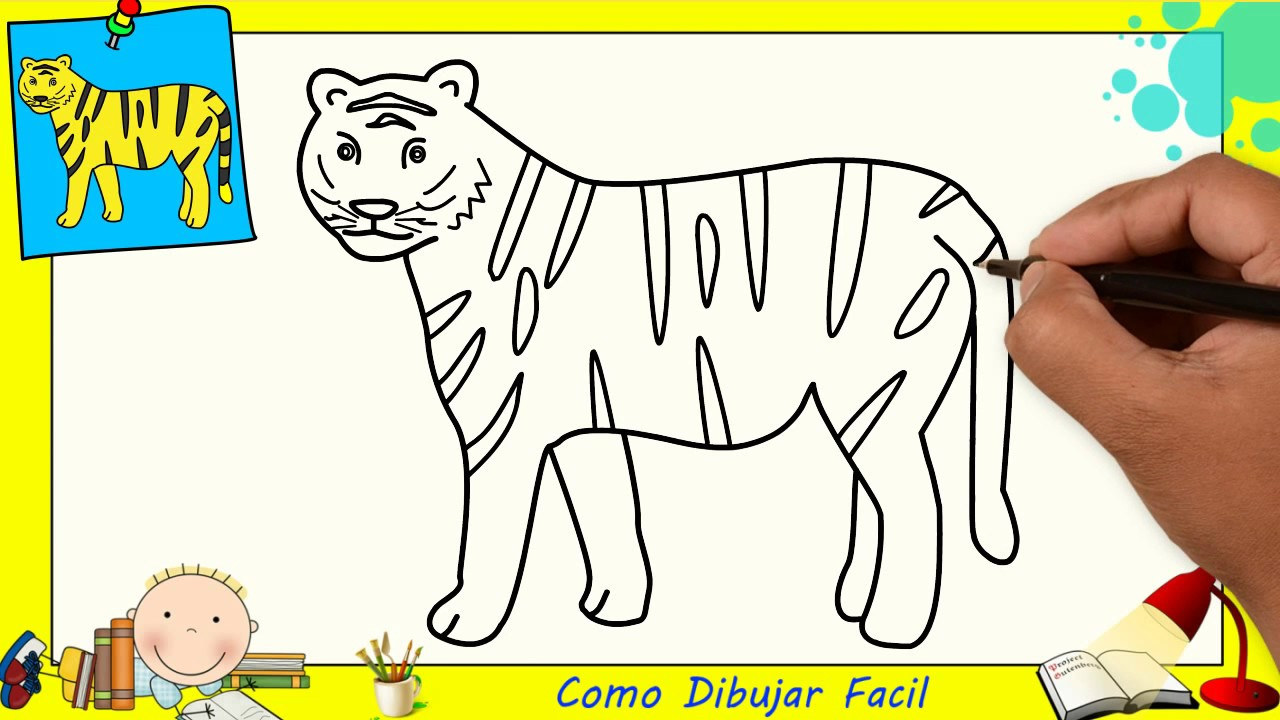 Dibujos De Tigres Faciles Paso A Paso Para Niños Como Dibujar Un