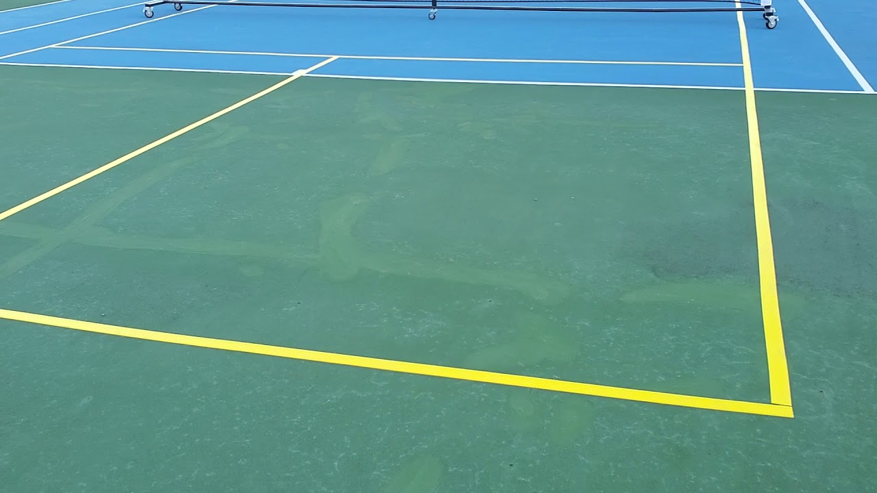 Creative ways to set up a portable pickleball court.