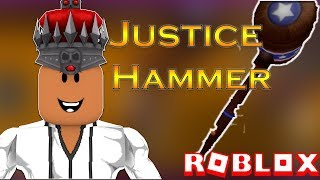 Roblox Justice Hammer Review! | Super Hero Tycoon!