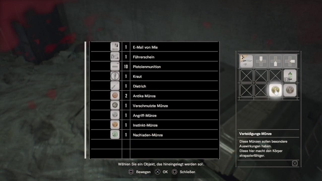 Resident Evil 7 5 Münzen Set Erklärung Youtube