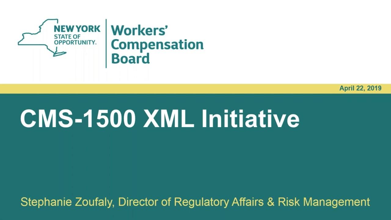 Cooperative Exchange Webinar: NY CMS-1500 XML Initiative