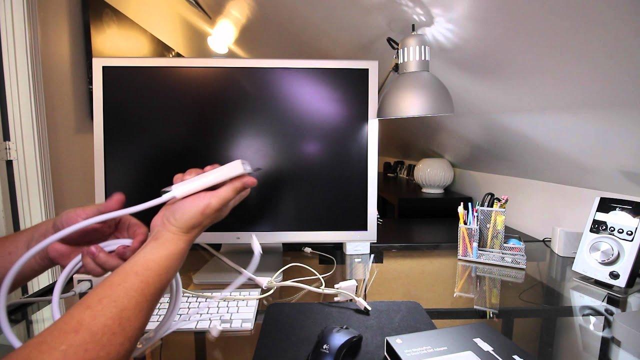 apple mini displayport to dual link dvi adapter youtube MacBook Pro Mini DVI apple mini displayport to dual link dvi adapter