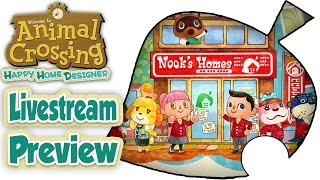 Animal Crossing Happy Home Designer - Livestream Preview! [English]