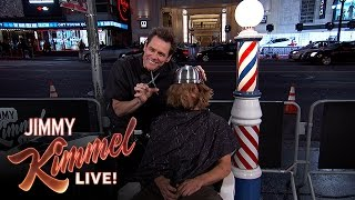 Jim Carrey Gives People Bowl Cuts on Hollywood Blvd. thumbnail