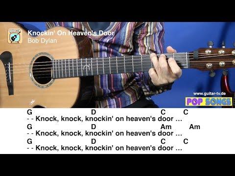 KNOCKIN' ON HEAVEN'S DOOR - Bob Dylan, Cover • Lyrics • Chords • Tutorial • Gitarre lernen