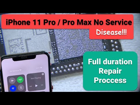 iPhone 11 Pro Max No Service Repair Process 【Full Duration】