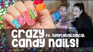 CRAZY 'EDIBLE' CANDY NAILS! ft SIMPLYNAILOGICAL