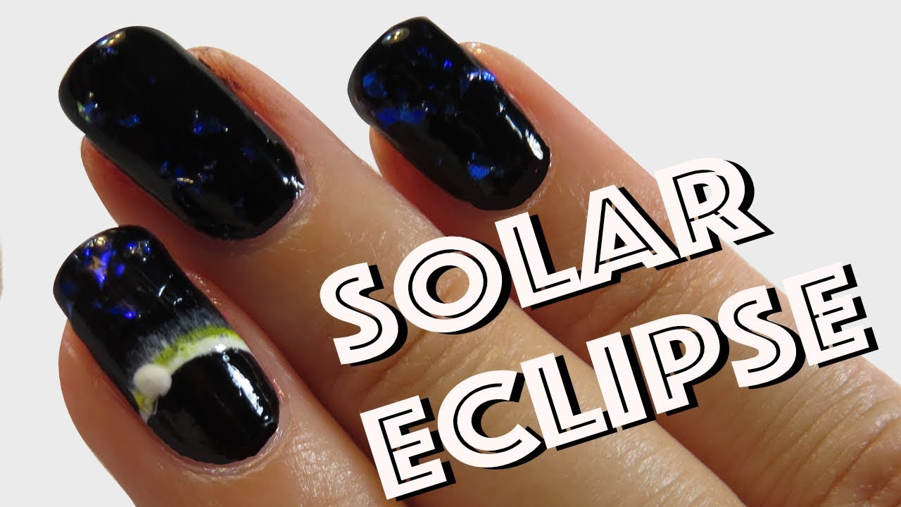 Solar Eclipse 2017 Nails - Easy DIY Nail Art Tutorial - YouTube