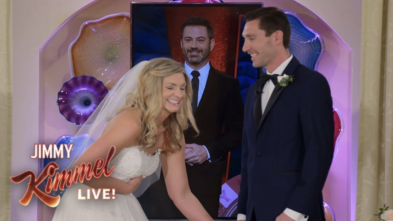 Download Jimmy Kimmel & Celine Dion Surprise Couple Getting Married in Las Vegas
