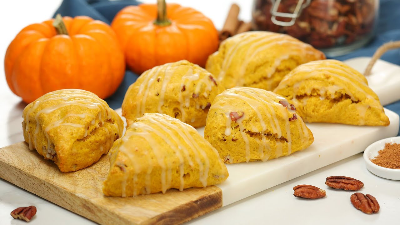 Pumpkin Spice Scones with Maple Glaze | The BEST Fall Baking