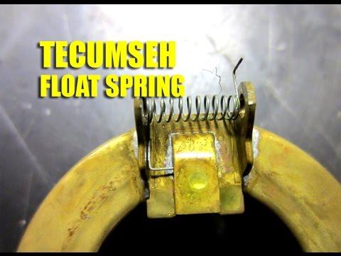 How To Install A Tecumeh Carburetor Float Spring Youtube