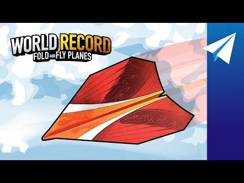 Easy Paper Airplane Glider — How to Make Phoenix, Designed by John Collins, The Paper Airplane Guy