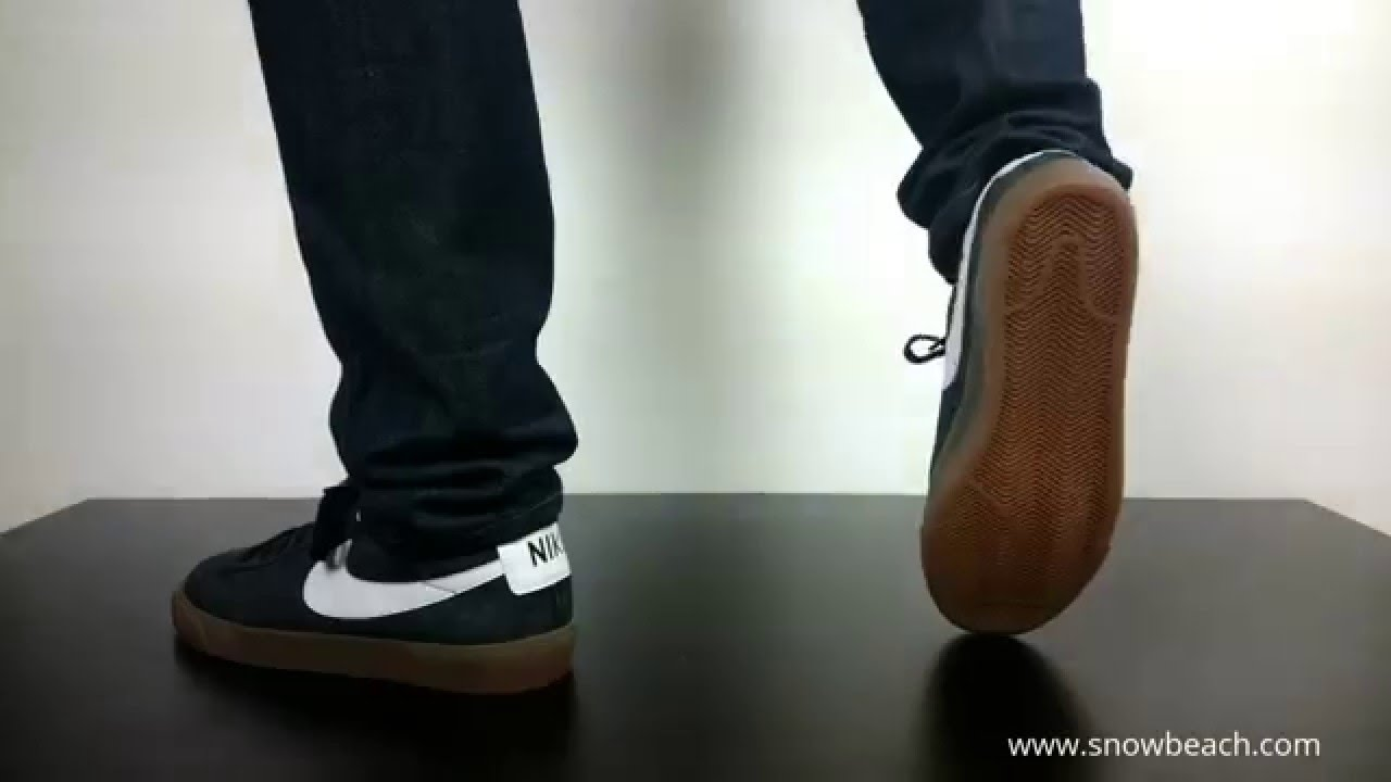1a4761423b3 NIKE SB BLAZER LOW GT black white mettalic gold 704939 017 - YouTube