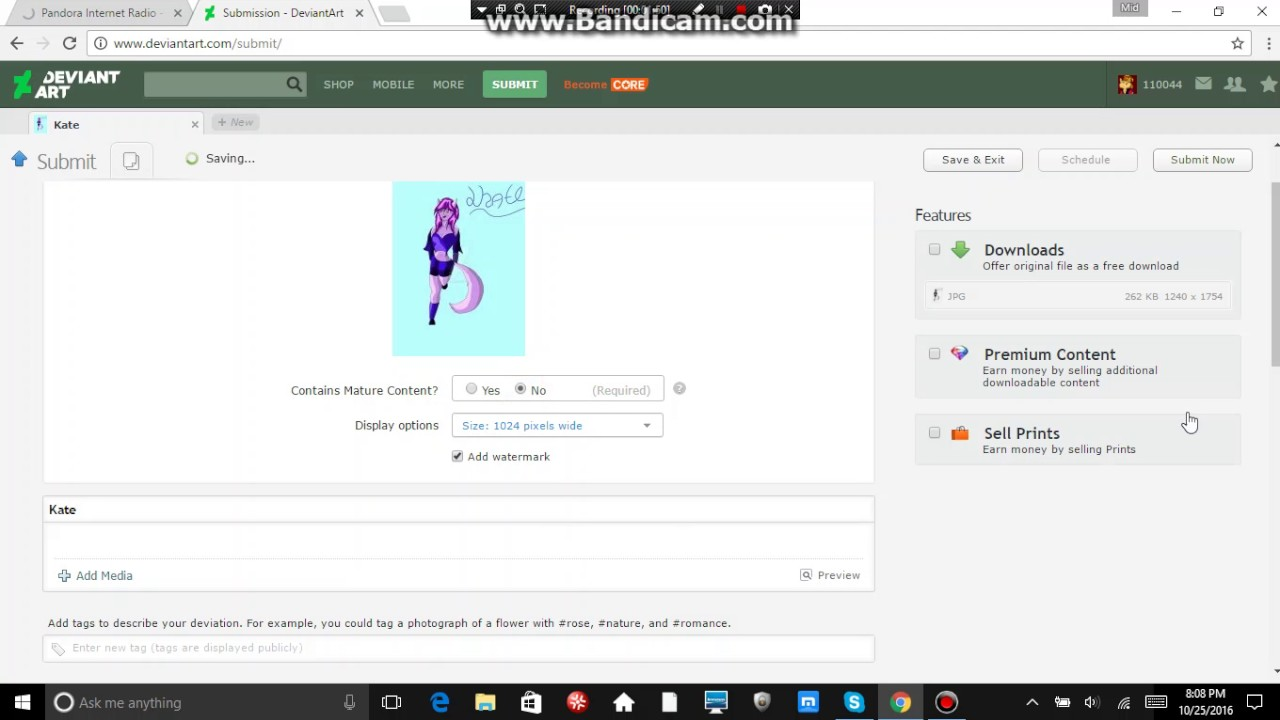 How to submit on DeviantArt?