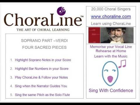 Soprano Part VERDI FOUR SACRED PIECES
