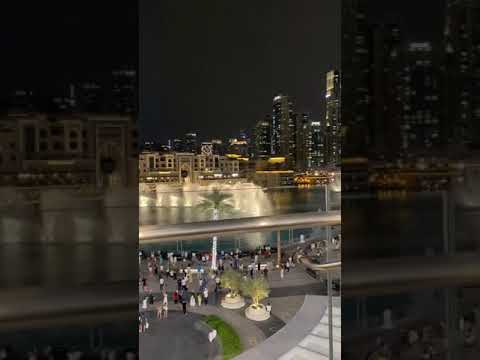 Dubai water fountain 2021