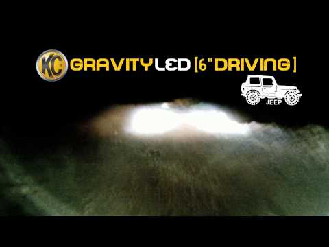 KC HiLiTES Off-Road Light Testing on Jeep - Gravity® LED G6 Driving System