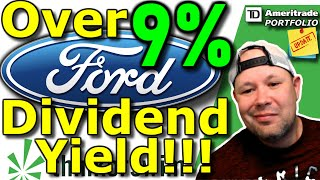 Over 9% Dividend Yield with FORD stock!! | Coronavirus fears drive stock down! | Dividend Stock
