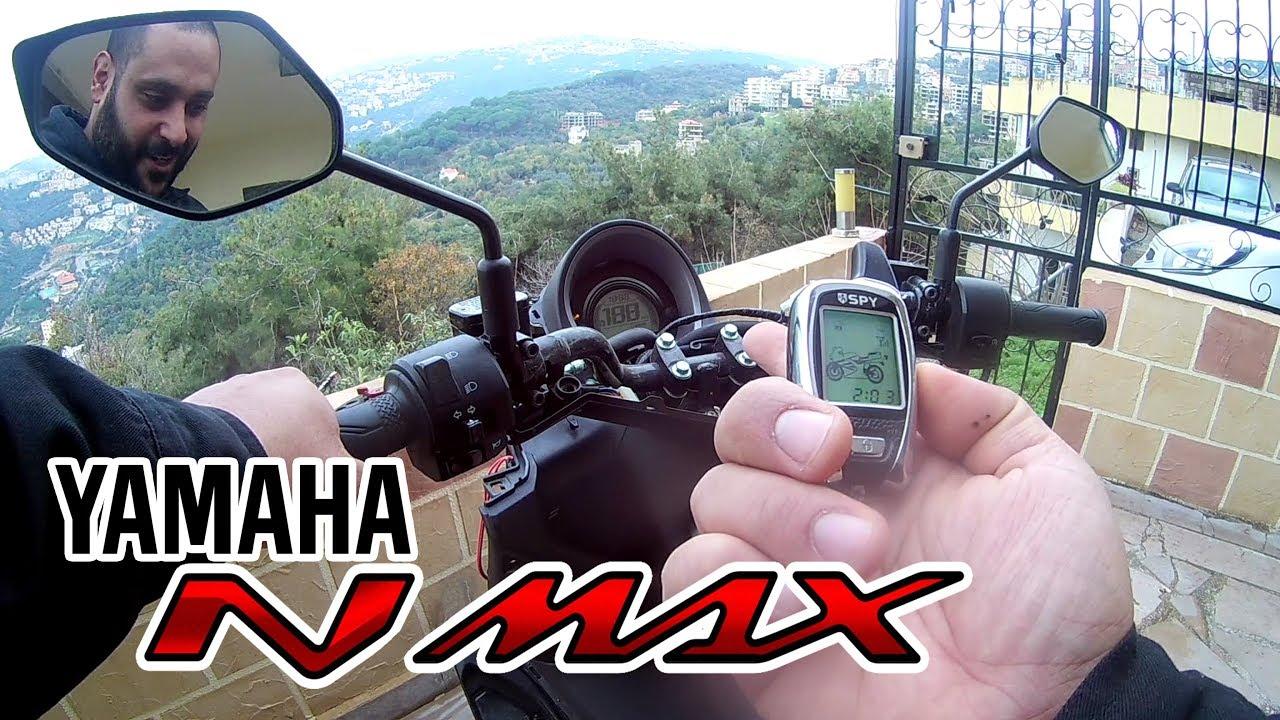 spy 5000m alarm - installation - remote start - immobilizer - yamaha nmax
