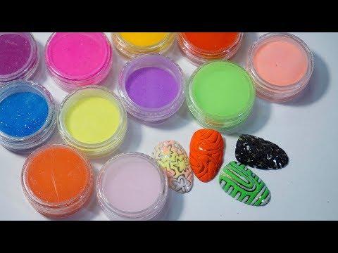 Цветная акриловая пудра для дизайна ногтей