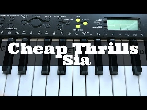Cheap Thrills - Sia | Easy Keyboard Tutorial With Notes (Right Hand)