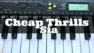 Cheap Thrills Sia Easy Keyboard Tutorial With Notes Right Hand.mp3