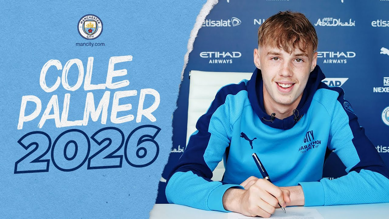 COLE PALMER SIGNS FOR CITY!   New Contract for FA Youth Cup & PL2 Winner!