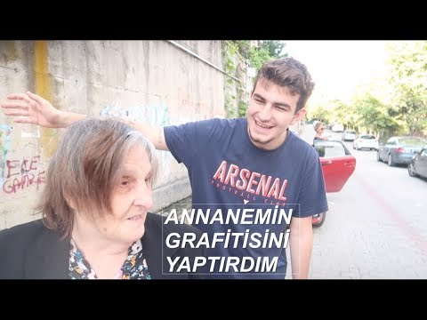 ANNANEMİN GRAFİTTİSİNİ YAPTIRDIM! (ANNANEMİN TEPKİSİ)