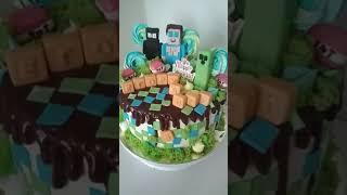Торт Майнкрафт для мальчика