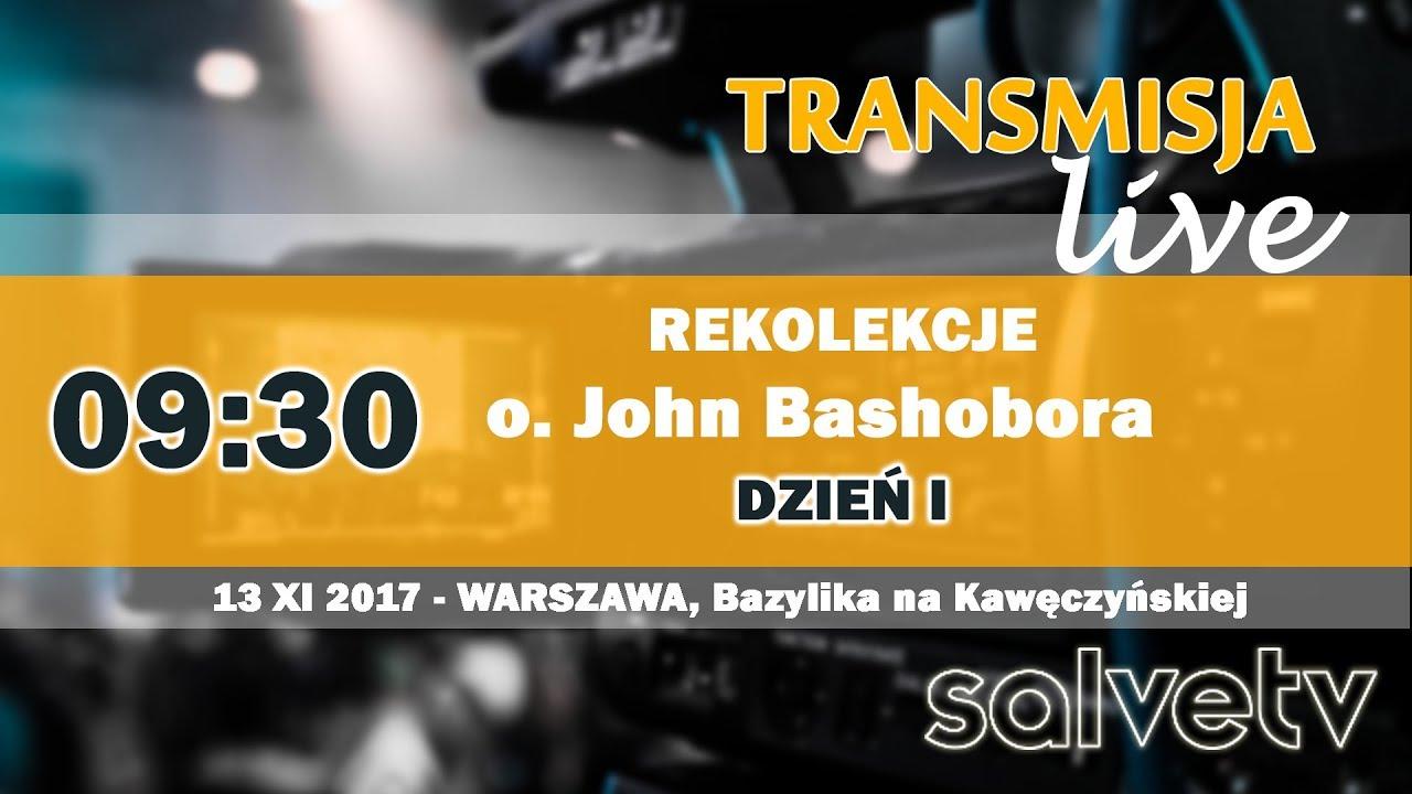 9:30 – rekolekcje z. o. Johnem Bashoborą – DZIEŃ I