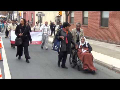 QUEEN MOTHER AMELIA BOYNTON ROBINSON LEADS PARADE IN ALLENTOWN, PA.