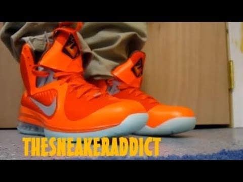 best service 13d06 18b6b Nike Lebron 9 Big Bang Galaxy Allstar IX ASG Sneaker Review + On Feet W    DjDelz Dj Delz