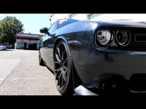 video:2016 Dodge Challenger Full wrap with Avery Supreme Wrapping film Black Milky Way in Seattle location
