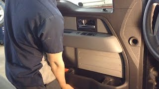 2009-2014 Ford F150 Front Door Speaker Replacement- Door Panel Removal Procedure