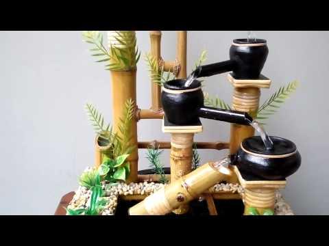 Miniatur Air Mancur Bambu Cendani - Mangiran