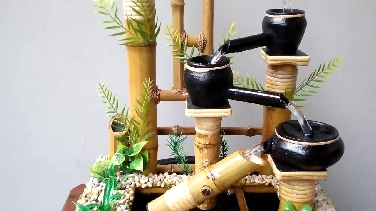 Miniatur Air Mancur Bambu Cendani Mangiran Youtube Air mancur dari bambu