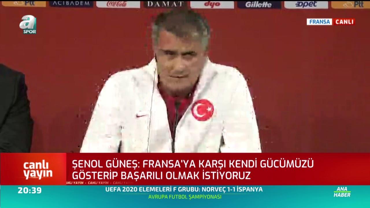 Fransa - Türkiye  Şenol Güneş ve İrfan Can Kahveci  Milli Maç Öncesi Basın Toplantısı Düzenledi