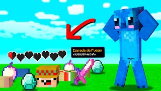 Minecraft pero MORIR nos da ITEMS SUPER OP