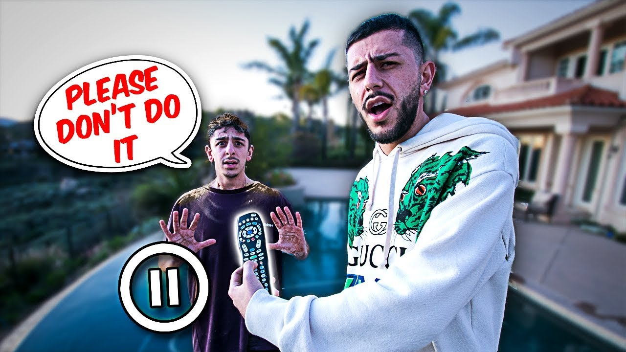 PAUSE CHALLENGE With My BROTHER for 24 HOURS!! **Horrible Idea**