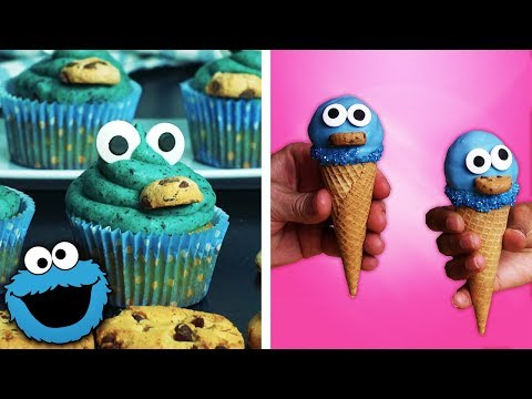 how-to-make-cookie-monster-brownies,-cupcakes-and-ice-cream-cones-|-easy-dessert-ideas-by-so-yummy