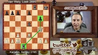 Tata Steel Masters Ronda 3 Sergey Karjakin Sacrifica la dama por torre, ajedrez, Reydama