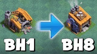 Gemming from BH1 to BH8 in 10 Minutes | Clash of Clans Builder Village | COC Private Server