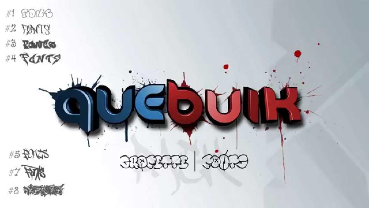 Free graffiti font pack quebuik youtube